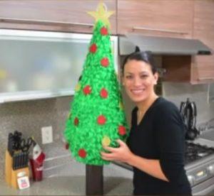 como hacer piñatas navideñas 1