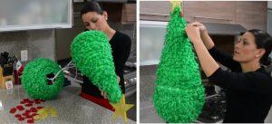 como hacer piñatas navideñas 11