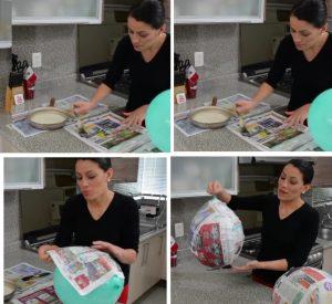 como hacer piñatas navideñas 3