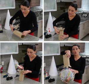 como hacer piñatas navideñas 8
