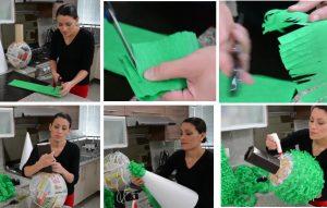 como hacer piñatas navideñas 9