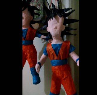 Como hacer piñatas de goku para niños