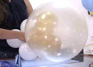 como hacer una piñata de globos 4