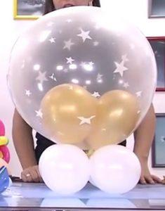 como hacer una piñata de globos 5