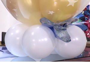 como hacer una piñata de globos 8