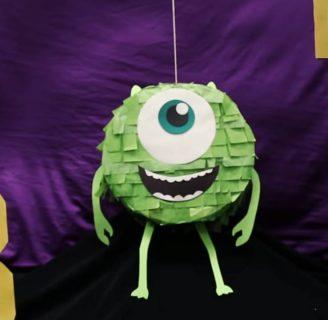 Como hacer piñatas de Monster Inc con todos sus detalles