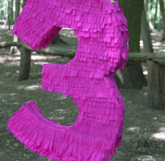 Como hacer piñatas de numeros para cumpleaños
