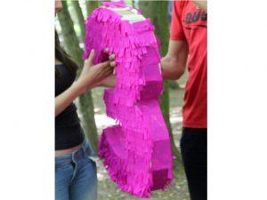 como hacer piñatas de numeros 11