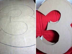 como hacer piñatas de numeros 3