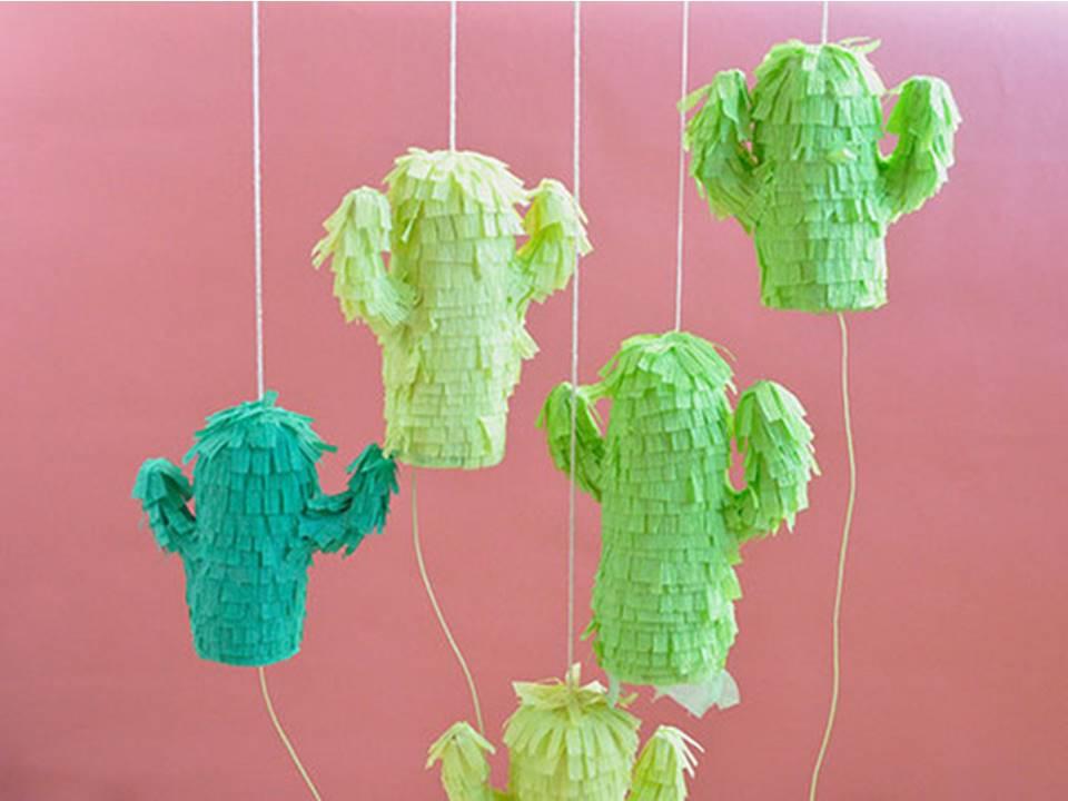 Como hacer pi atas peque as para regalo en forma de cactus - Regalos para pinatas ...