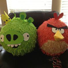 Como hacer una piñata de Angry Birds, varios personajes.