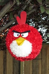 como hacer una piñata de angry birds