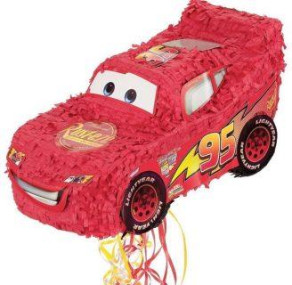 Como hacer una piñata de cars, del rayo McQueen.