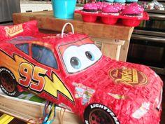 como hacer una piñata de cars