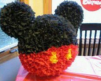 Como hacer una piñata de Mickey Mouse, muy fácil.
