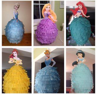 Como hacer una piñata de princesa Disney muy bella.