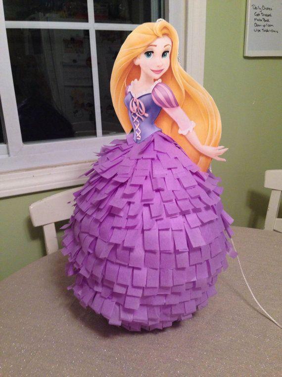 Como hacer una pi ata de princesa disney muy bella - Como hacer blanco roto ...