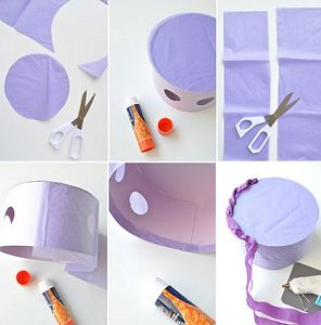 Pasos para hacer una piñata con cartulina