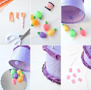 Montaje de las partes de la piñata