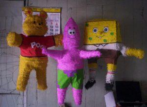 Piñatas de figuras animadas, paso a paso