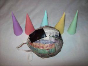 Materiales para piñatas navideñas de 7 picos