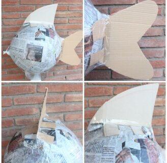 ¿Tienes que hacer una piñata de cartón con papel maché?