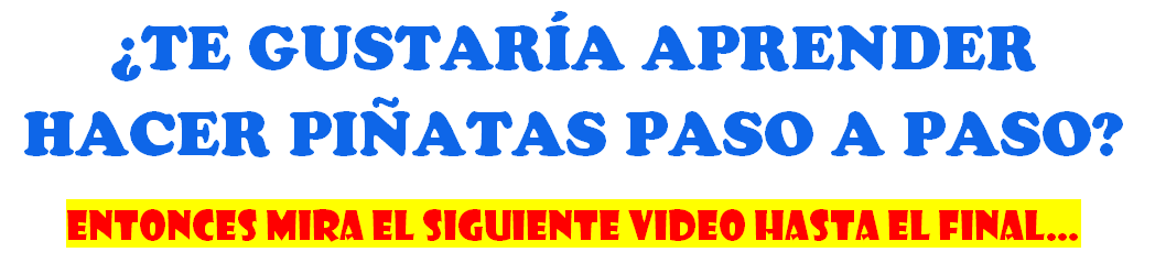 TITULO HACER PIÑATAS